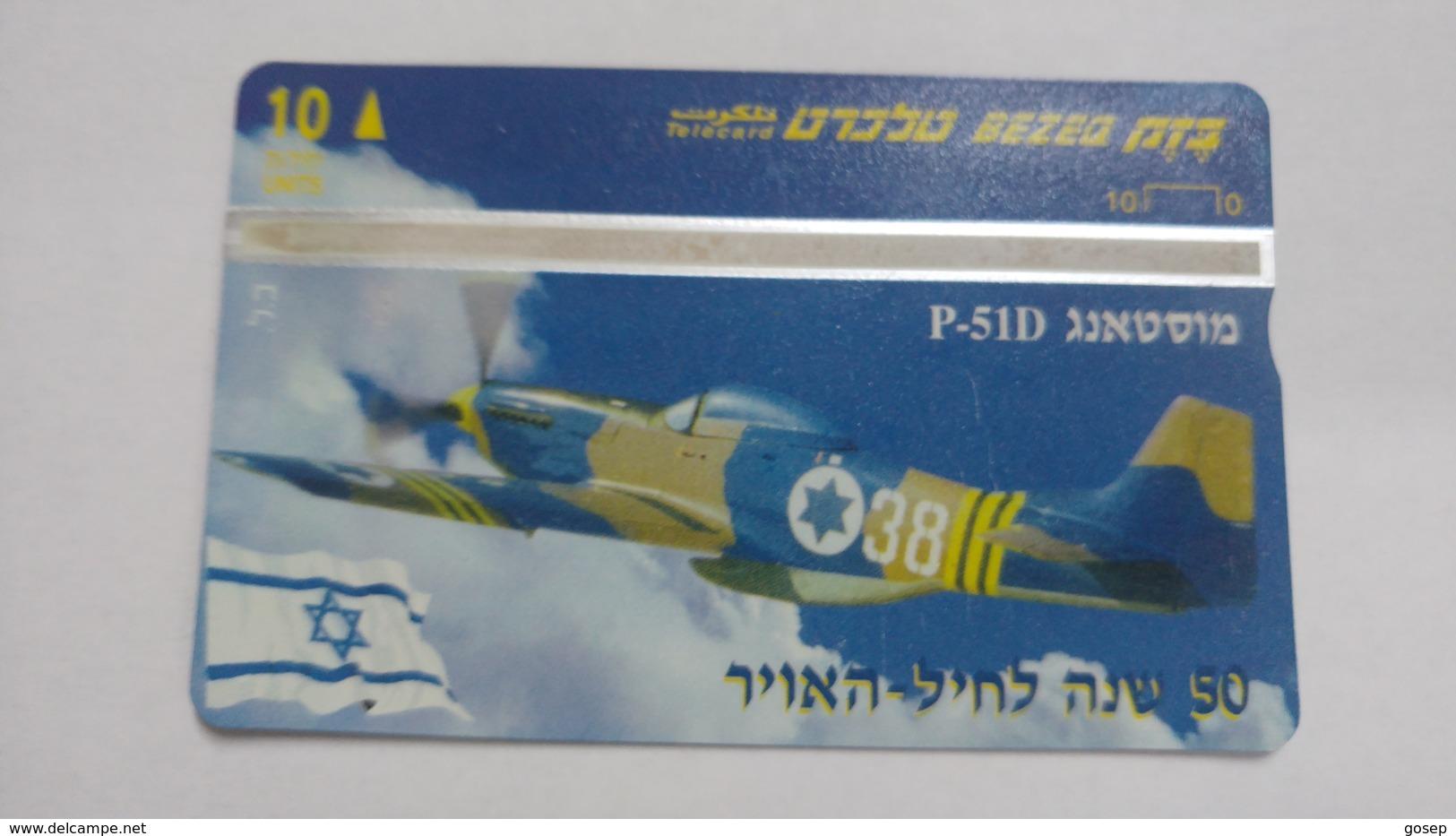Israel-(bzp14)-mustang P-51d-(tirage-1.085)-mint Card+1card Prepiad Free - Israel