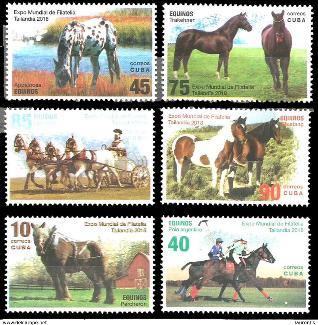 233  Horses - Chevaux - 2018 - MNH - Cb - 2,45 - Caballos