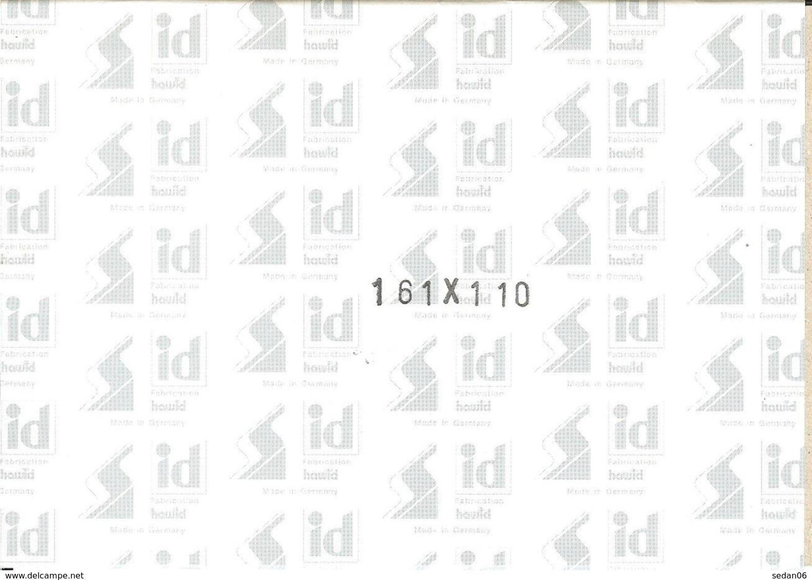 I.D. - Blocs 161x110 Fond Noir (double Soudure) - Bandes Cristal