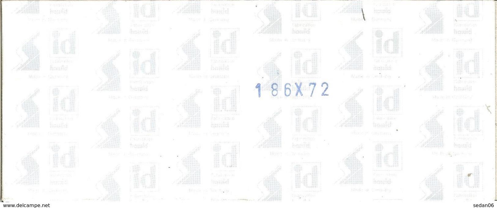 I.D. - Blocs 186x72 Fond Noir (double Soudure) - Bandes Cristal