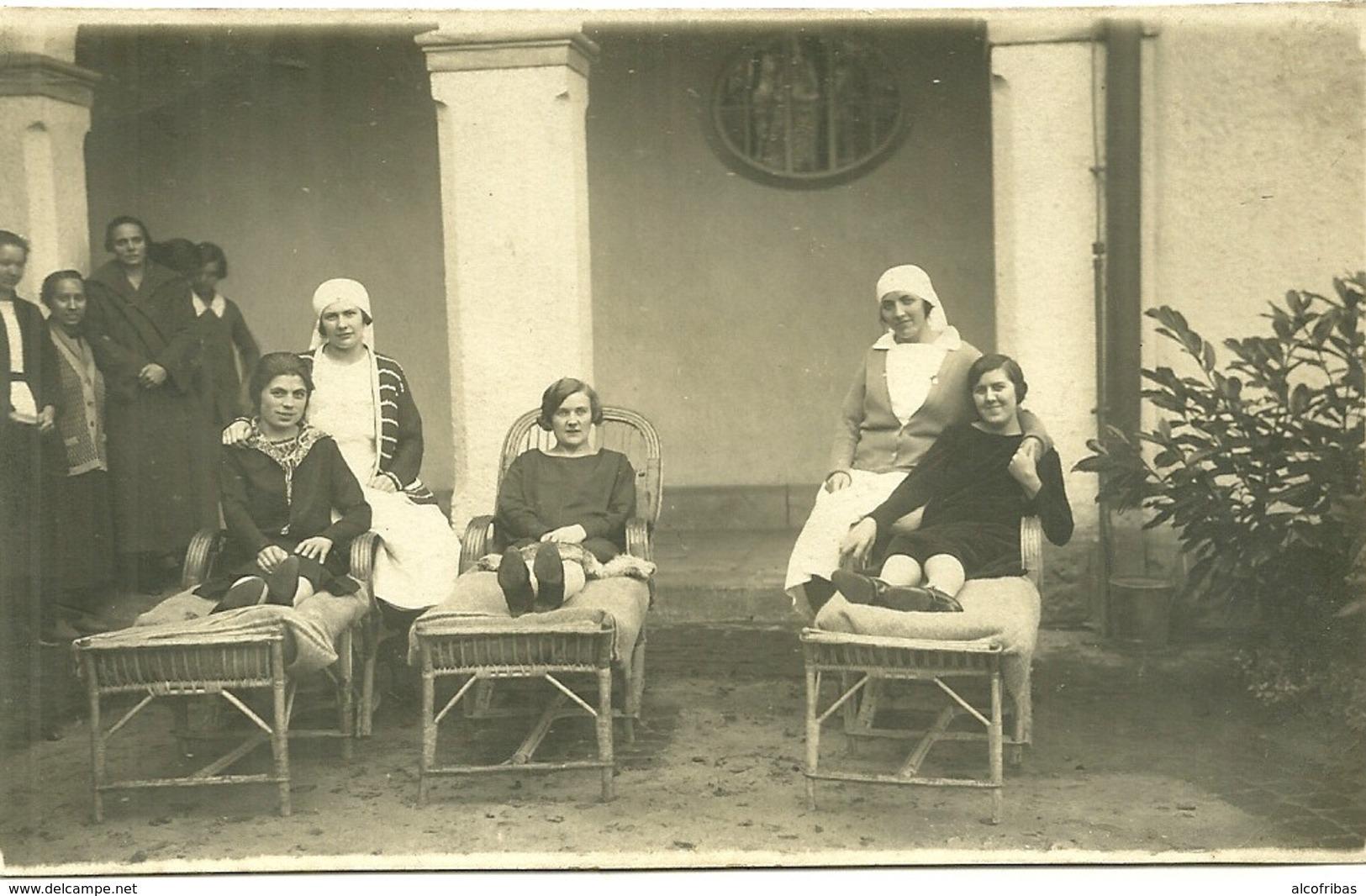 57 Cpa Photo Medecine Soins Cure Hopital Femmes En Convalescence Photo Kroenner Bouley - Salute