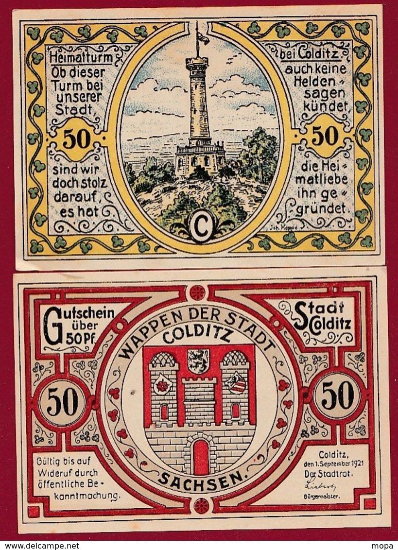 Allemagne 1 Notgeld De 50 Pfenning  Stadt Colditz  Dans L 'état N °4855 - Collections