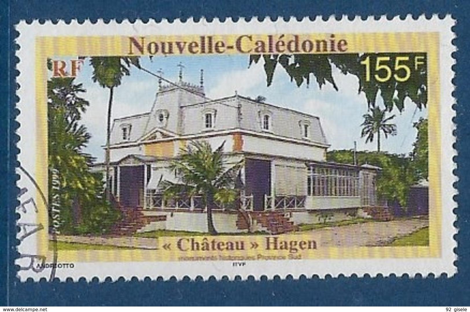 """Nle-Caledonie YT 804 """" Château """" 1999 Oblitéré - Neukaledonien"""