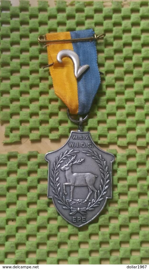 Medaille :Netherlands  -  W.S.V - W.i.o.s Epe  / Vintage Medal - Walking Association - Nederland