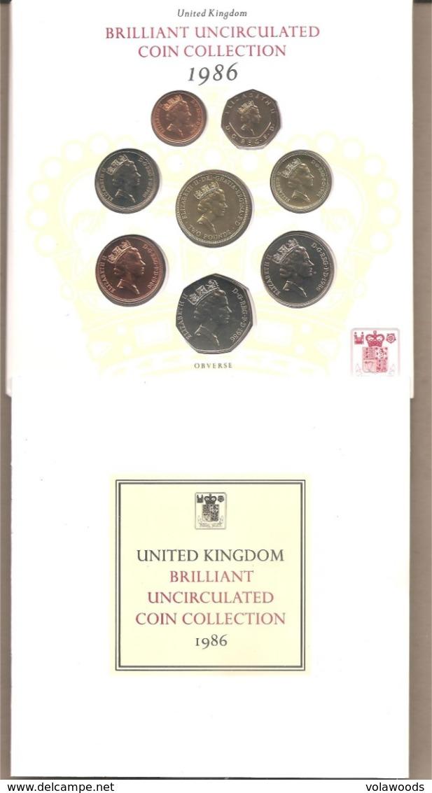 Regno Unito - Brillant Uncirculated Coin Collection Proof Set - 1986 - Gran Bretagna