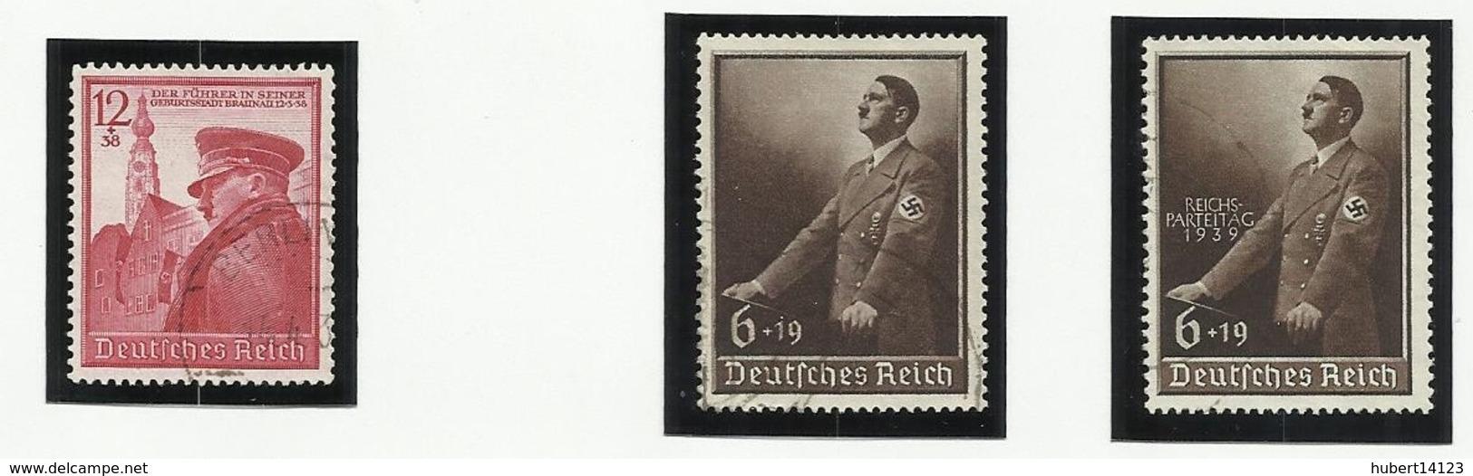 Allemagne N° 634 635 636 Oblitérés De 1939 - Oblitérés