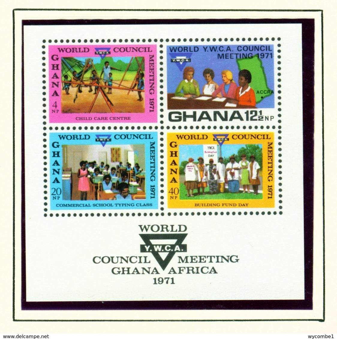 GHANA  -  1971 YWCA Miniature Sheet Unmounted/Never Hinged Mint - Ghana (1957-...)