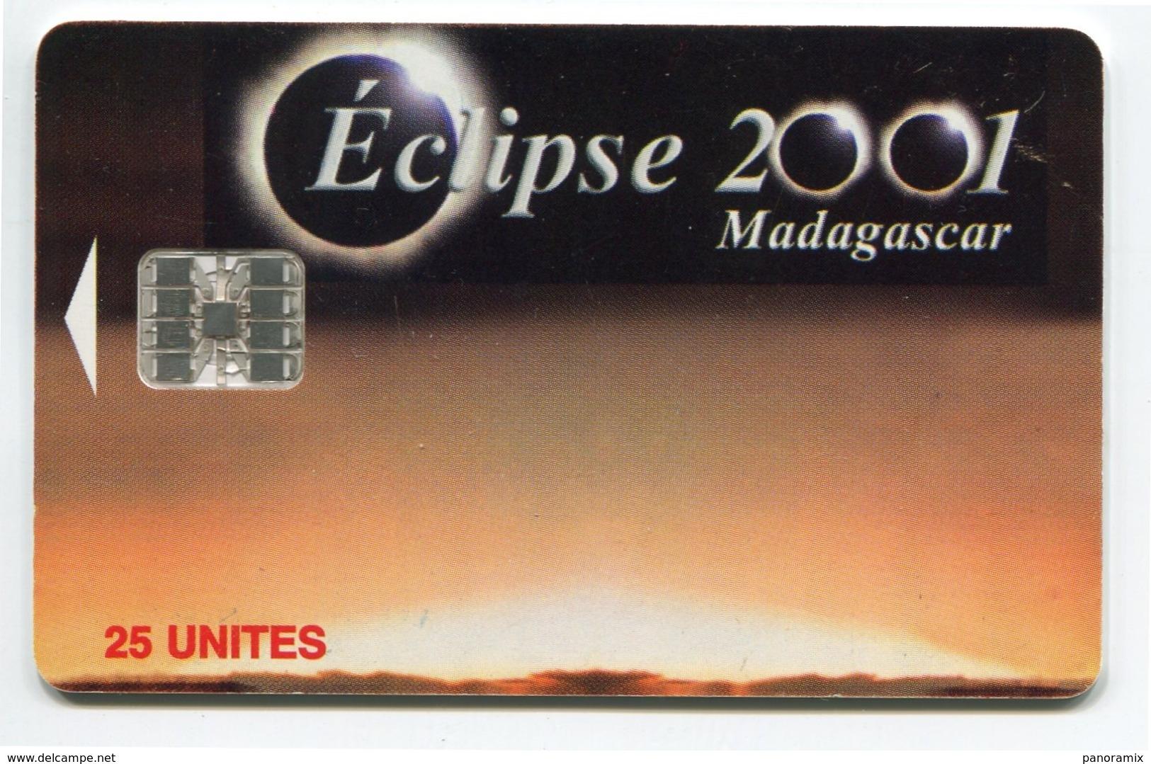 Telecarte °_ Madagascar-25 Unites-Eclipse 2001-Sc7- R/V 0664 - Madagaskar