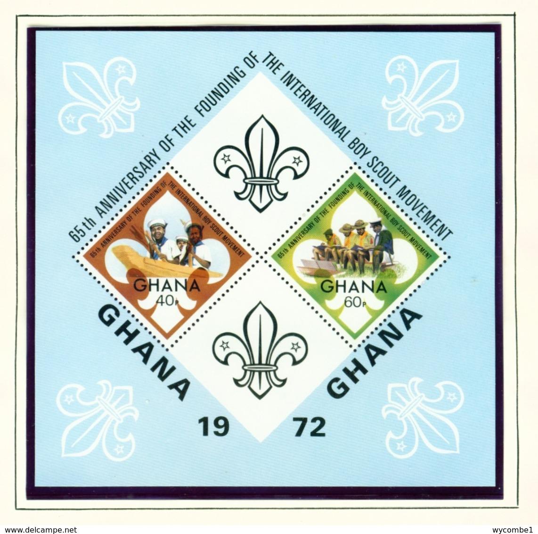 GHANA  -  1972 Scouts Miniature Sheet Unmounted/Never Hinged Mint - Ghana (1957-...)