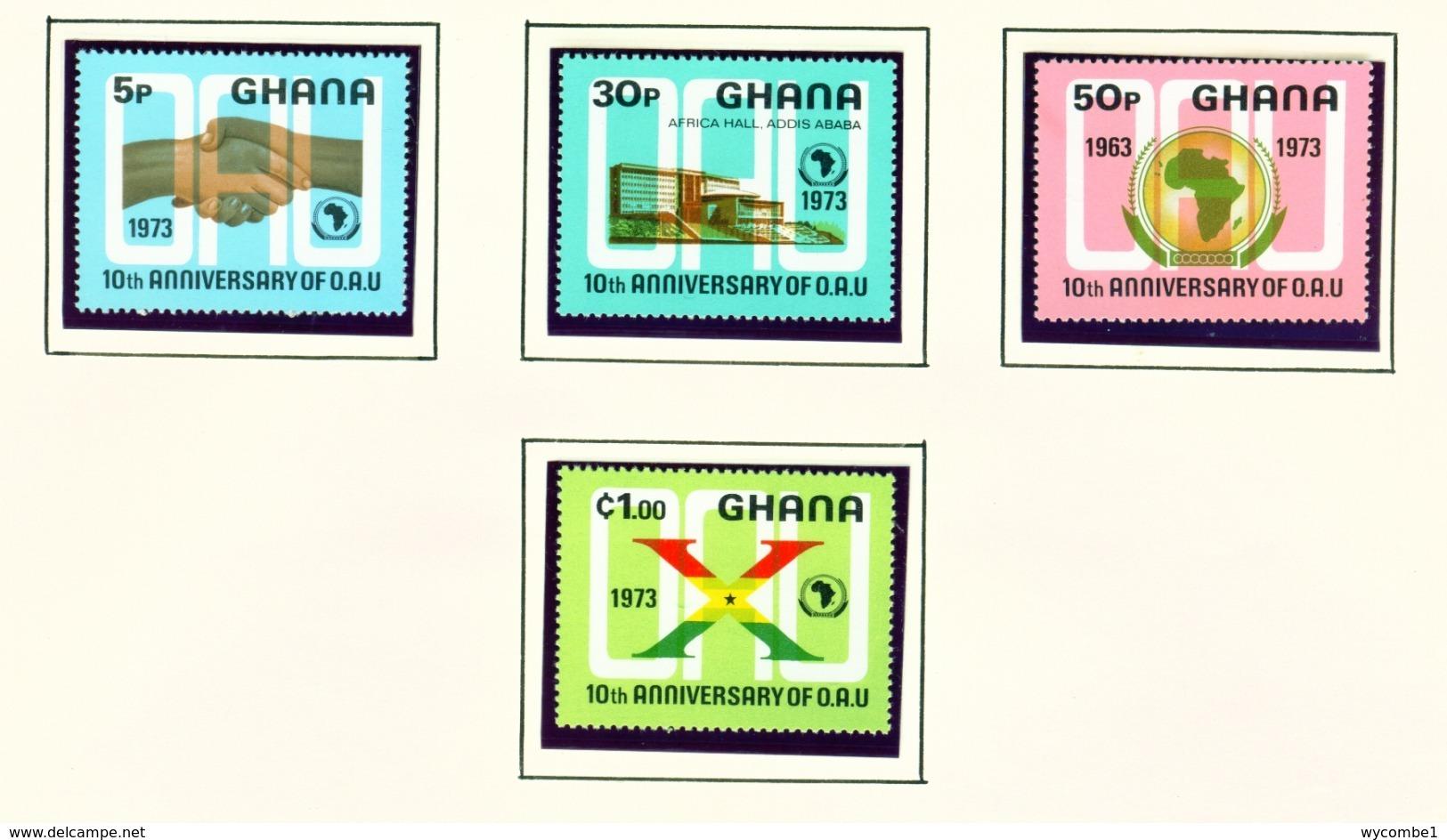 GHANA  -  1973 OAU Set Unmounted/Never Hinged Mint - Ghana (1957-...)