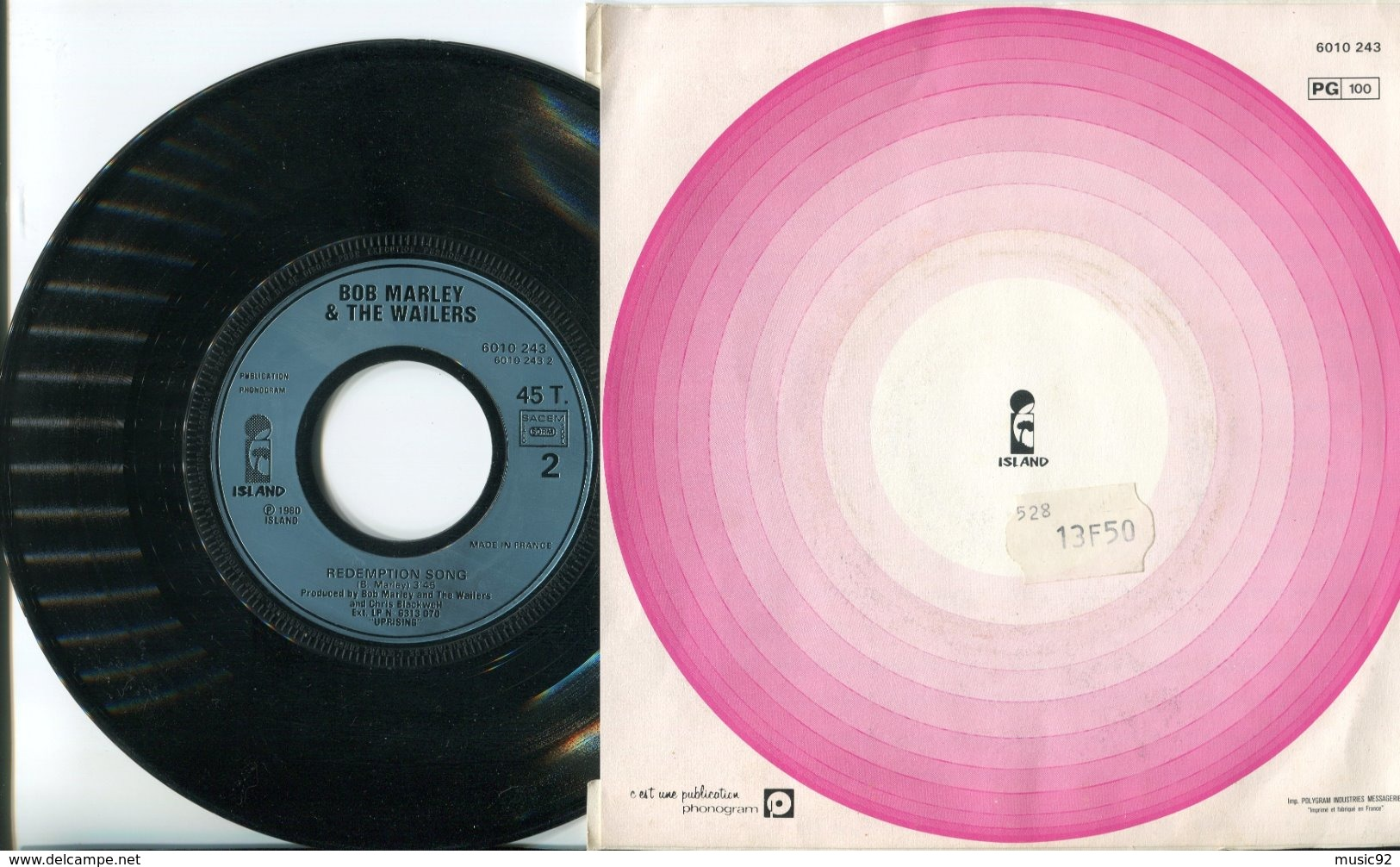 Bob Marley - 45t Vinyle - Work - Reggae