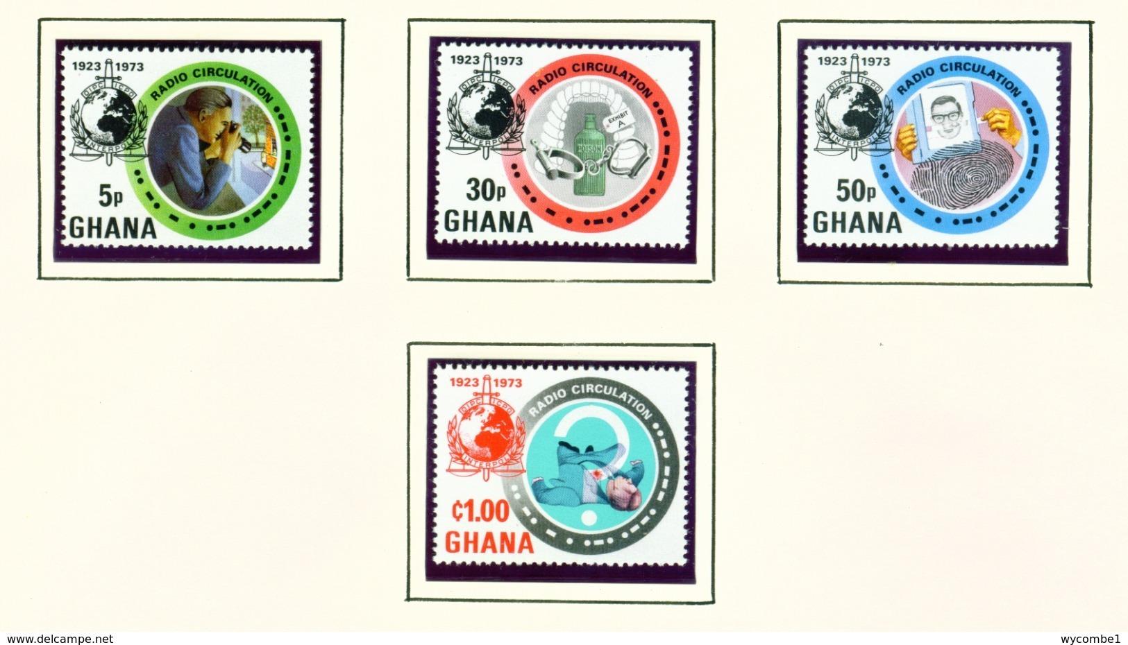 GHANA  -  1973 Interpol Set Unmounted/Never Hinged Mint - Ghana (1957-...)