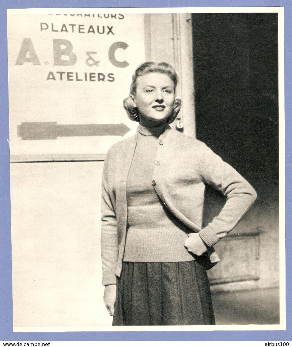 COUPURE De PRESSE 1955 - 19 X 22 Cm - NICOLE COURCEL ACTRICE CINÉMA THÉATRE TÉLÉVISION - Other Collections