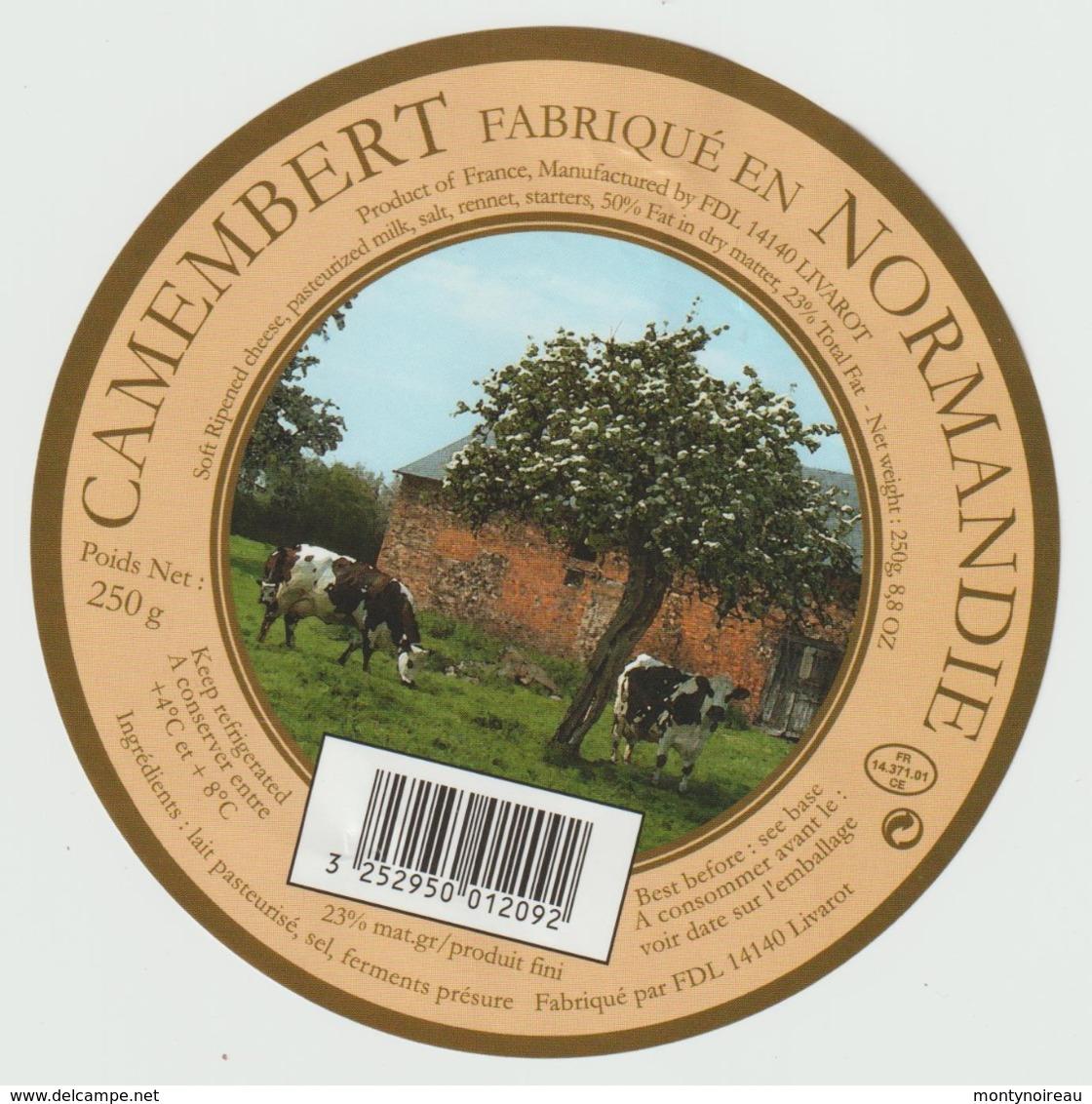 Etiquette Fromage Camembert : Livarot - Formaggio