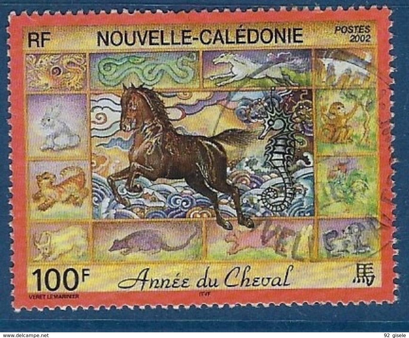 """Nle-Caledonie YT 863 """" Année Du Cheval """" 2002 Oblitéré - Gebraucht"""