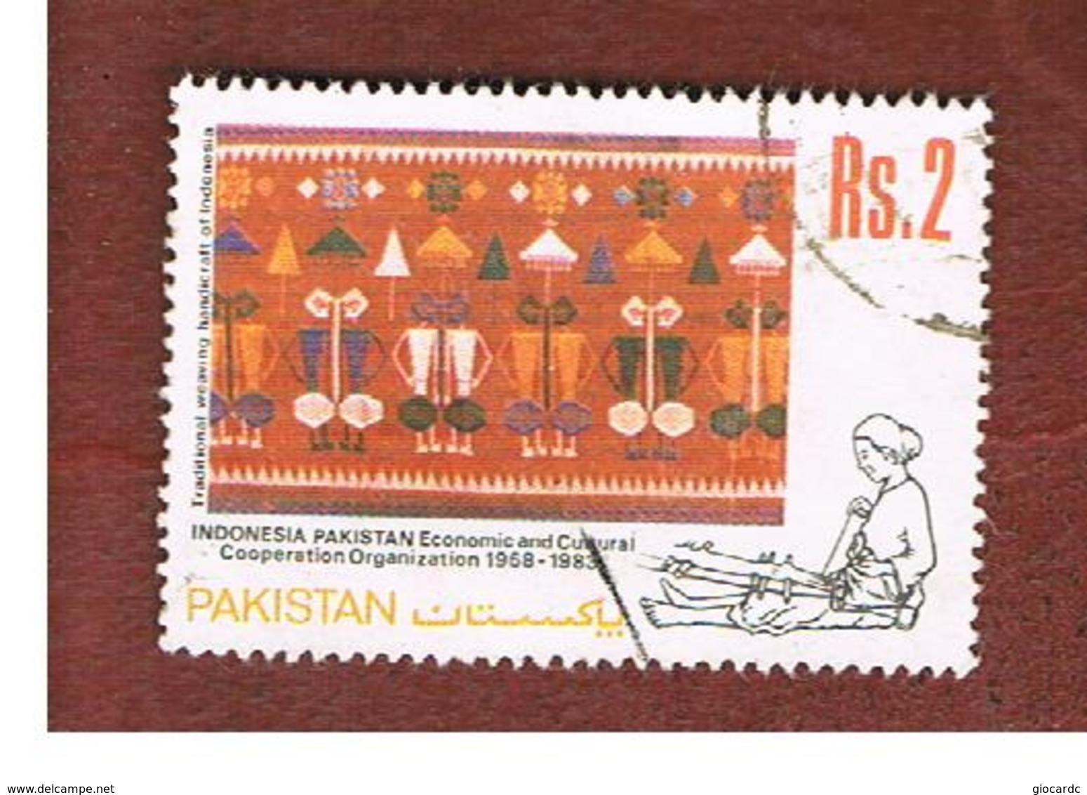 PAKISTAN  -  SG 604  -  1983  CO-OPERATION INDONESIA-PAKISTAN: CARPET -  USED ° - Pakistan
