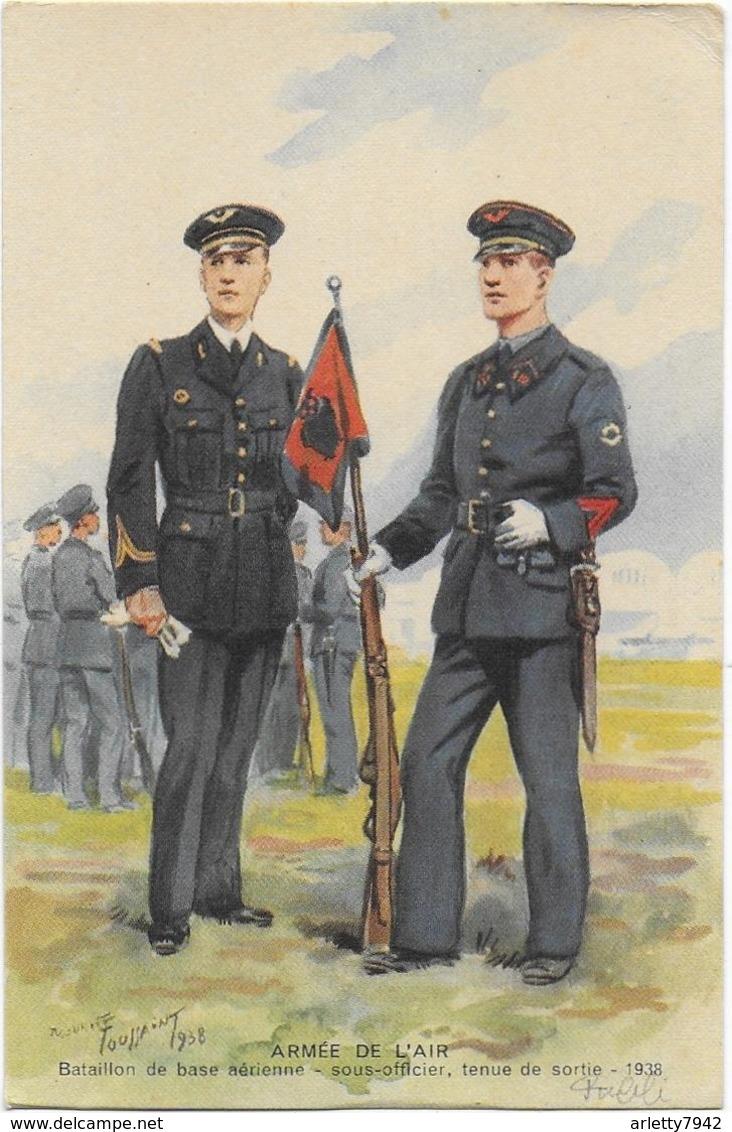 Armée De L'air - Sous Officier, Tenue De Sortie - 1938  Signée - Uniformi