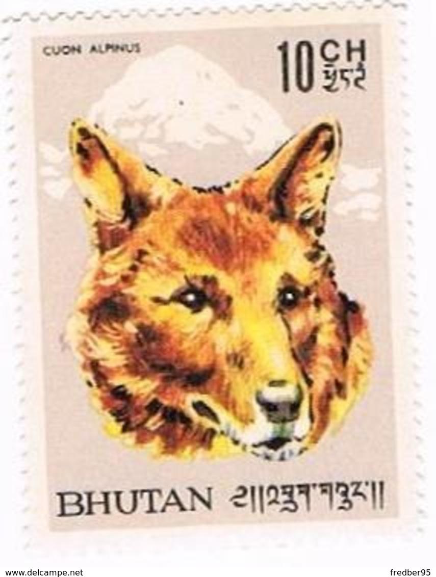 Asie - Bhoutan Yvert Et Tellier BT 67 - Loup 1966 NEUF - Bhután