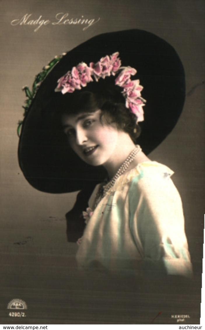 Artiste Femme 1900 - Madge Lessing, Chapeau - Cabarets