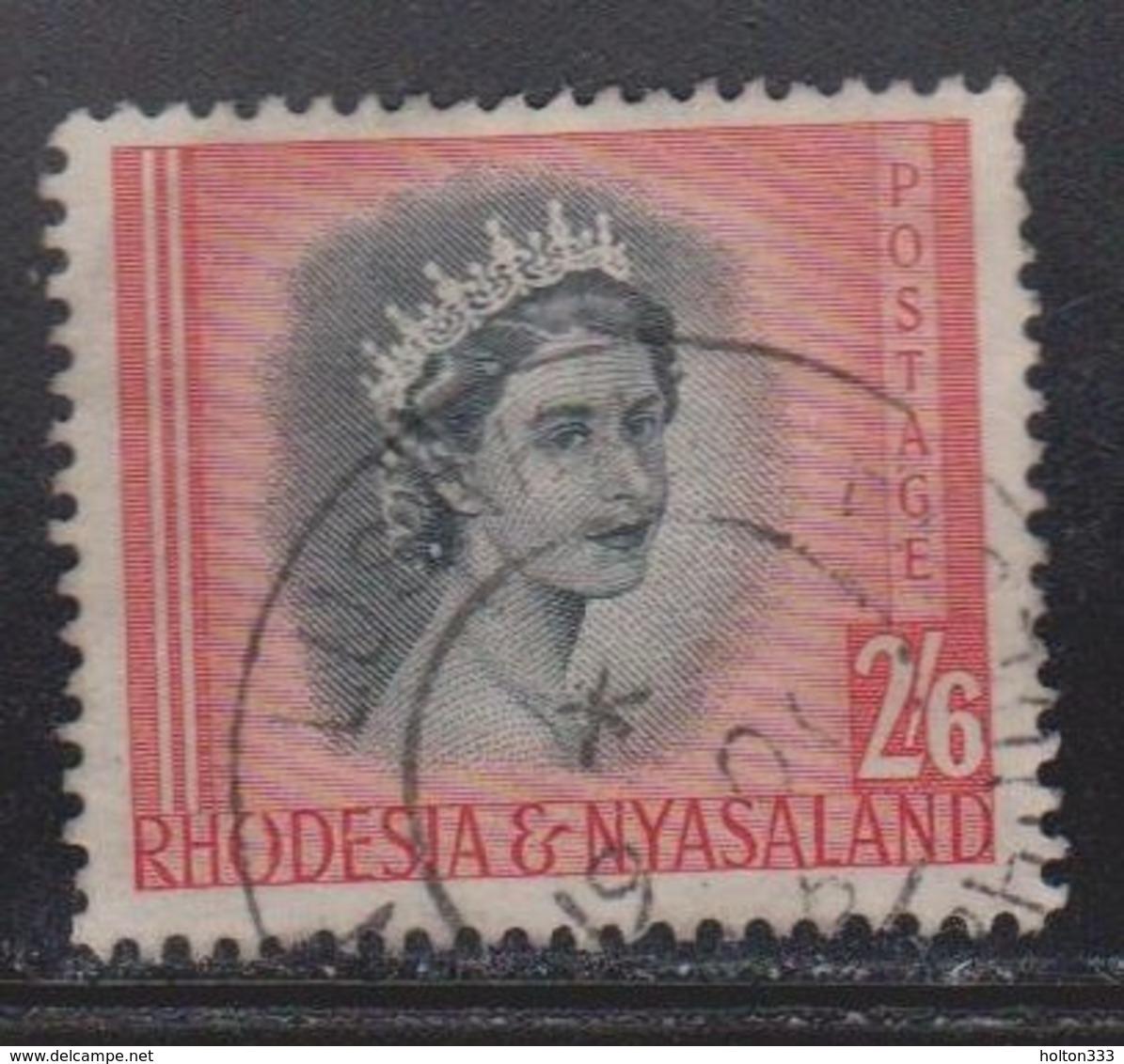 RHODESIA & NYASSALAND Scott # 152 Used - QEII - Rhodesia & Nyasaland (1954-1963)