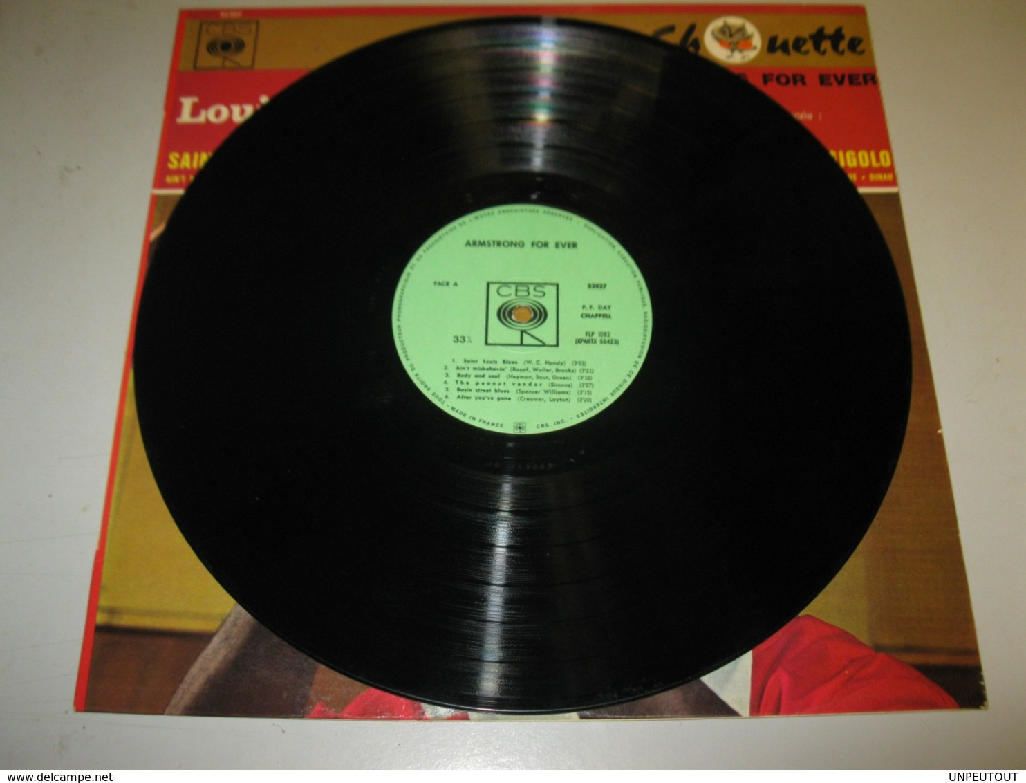 """VINYLE LOUIS ARMSTRONG """"ARMSTRONG FOR EVER"""" CBS REF : 52027 """"COLLECTION CHOUETTE"""" - Jazz"""