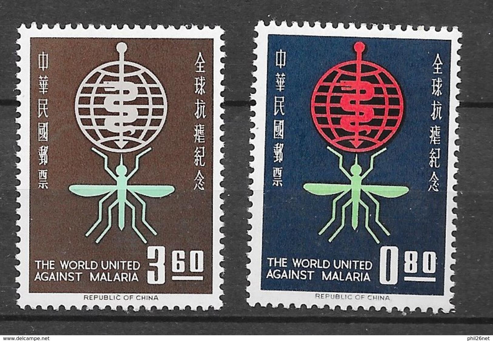 Formose Taiwan   N°   401 Et 402  Paludisme   Neufs * *   TB  =  MNH  VF   Soldé ! ! ! Le Moins Cher Du Site ! ! ! - Ungebraucht