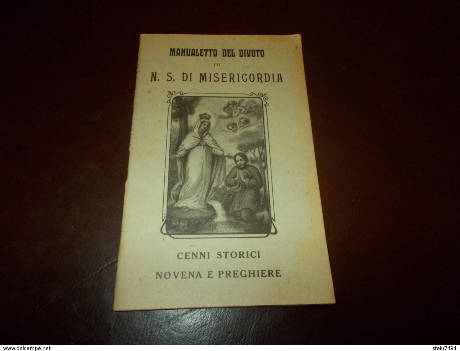 B738  Manualetto Del Divoto N.s.di Misericordia Cm8,5x14 - Santini