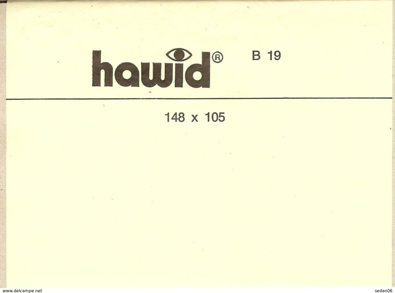 HAWID - Blocs 148x105 Fond Noir - Bandes Cristal