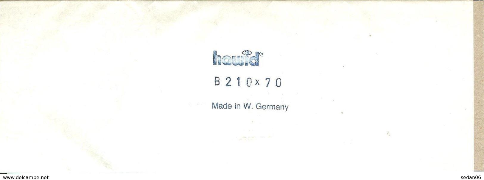HAWID - Blocs 210x70 Fond Noir - Bandes Cristal