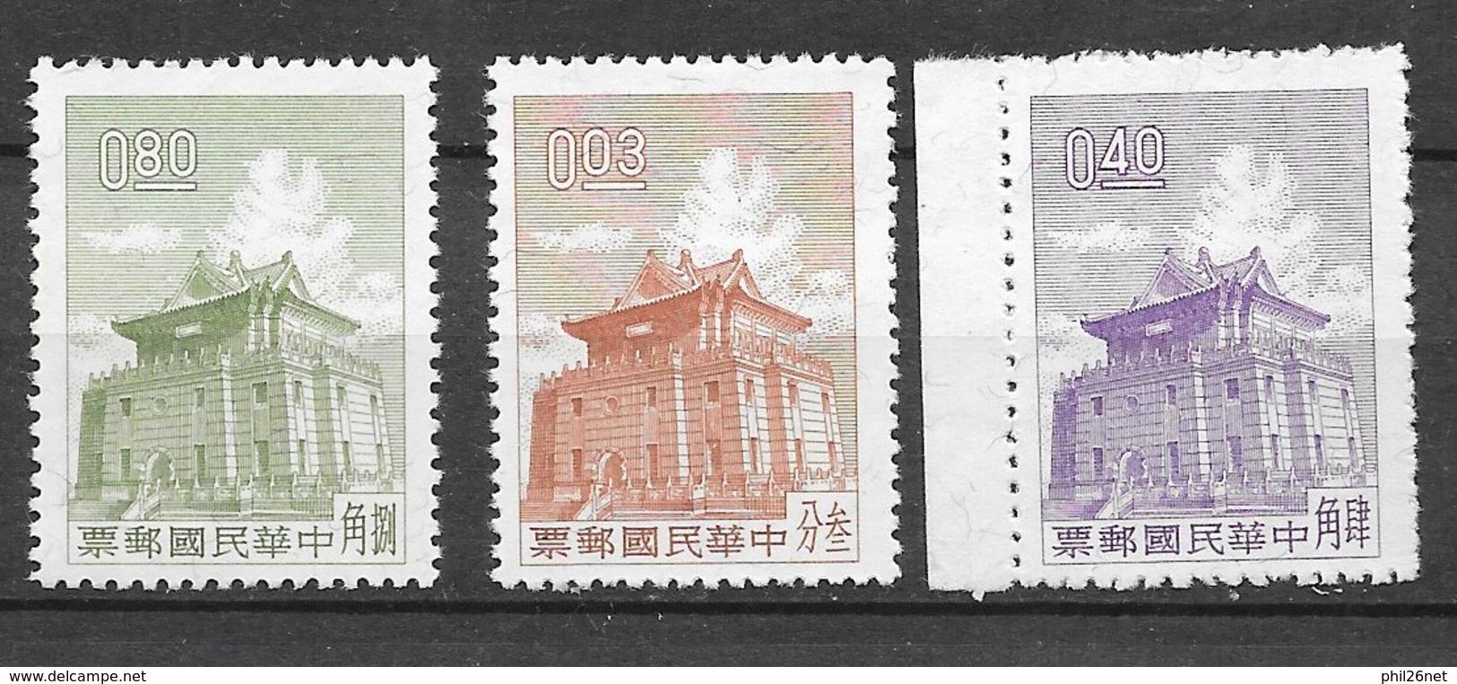 Formose Taiwan   N° 408   à  410 Pagode     émis Neufs (*)  B/ TB    Soldé ! ! !     Le Moins Cher Du Site ! ! ! - Ungebraucht