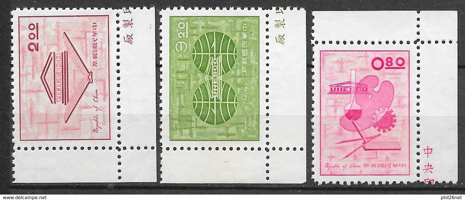 Formose Taiwan   N° 416  à  418     émis Neufs (*)  B/ TB    Soldé ! ! !     Le Moins Cher Du Site ! ! ! - 1945-... Republik China