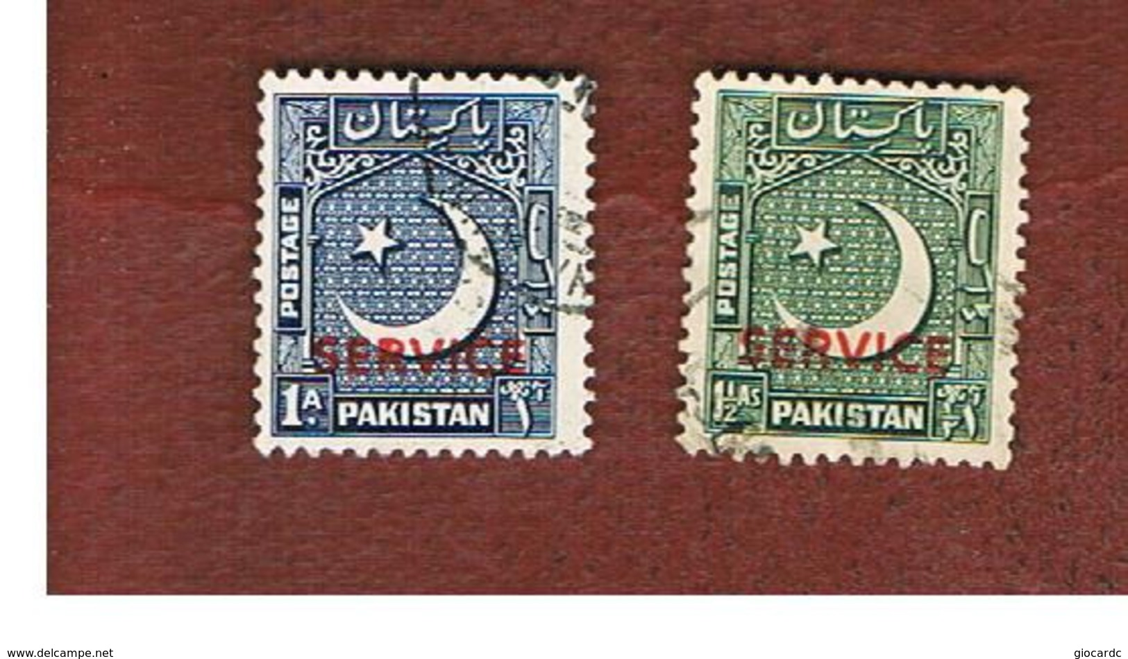 PAKISTAN  -  SG O38.O39  -  1949 OFFICIAL STAMP: CRESCENT (OVERPRINTED)    -  USED ° - Pakistan