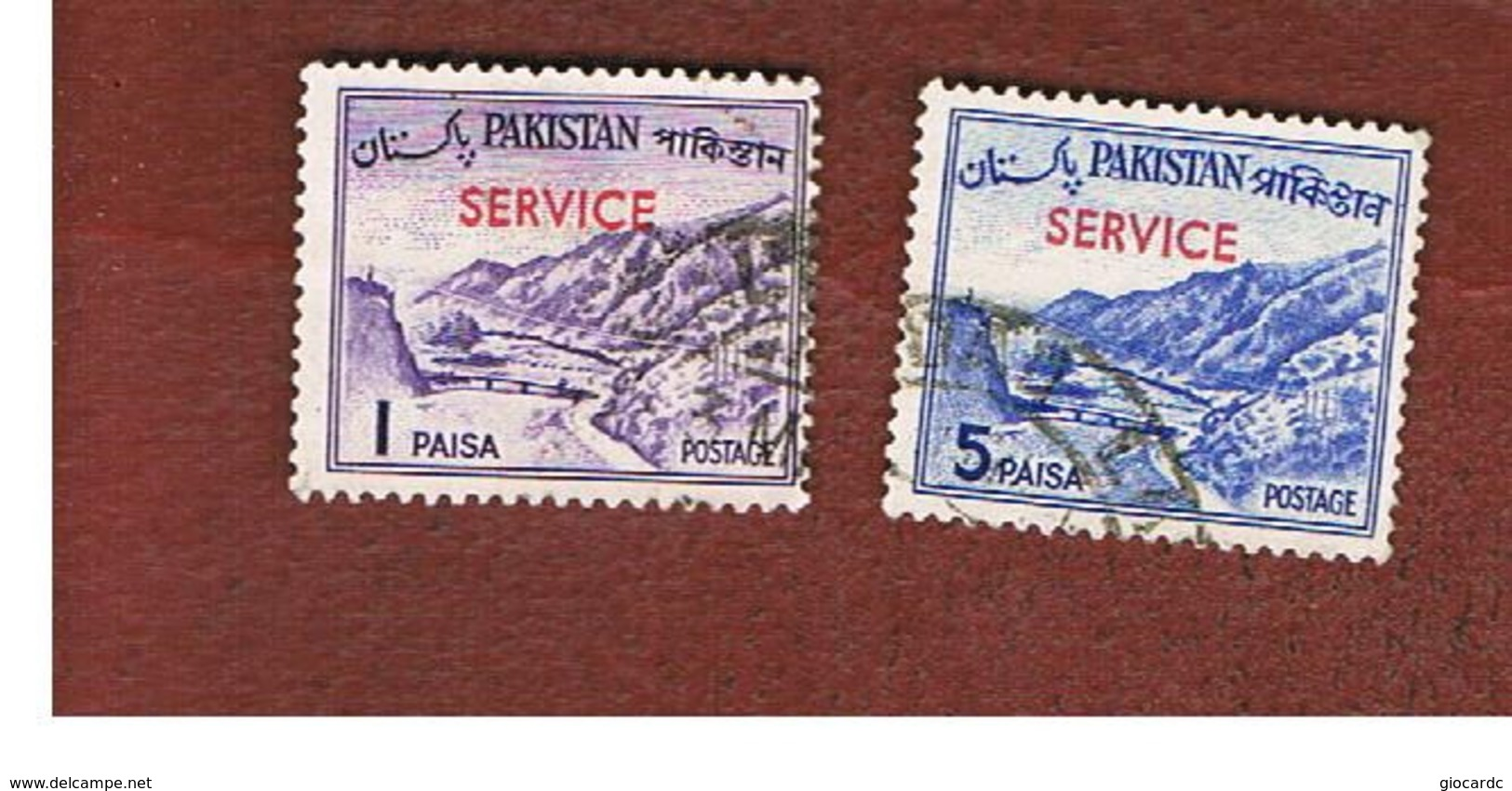 PAKISTAN  -  SG O74.O94  -  1961 OFFICIAL STAMP: KHYBER PASS (OVERPRINTED)    -  USED ° - Pakistan