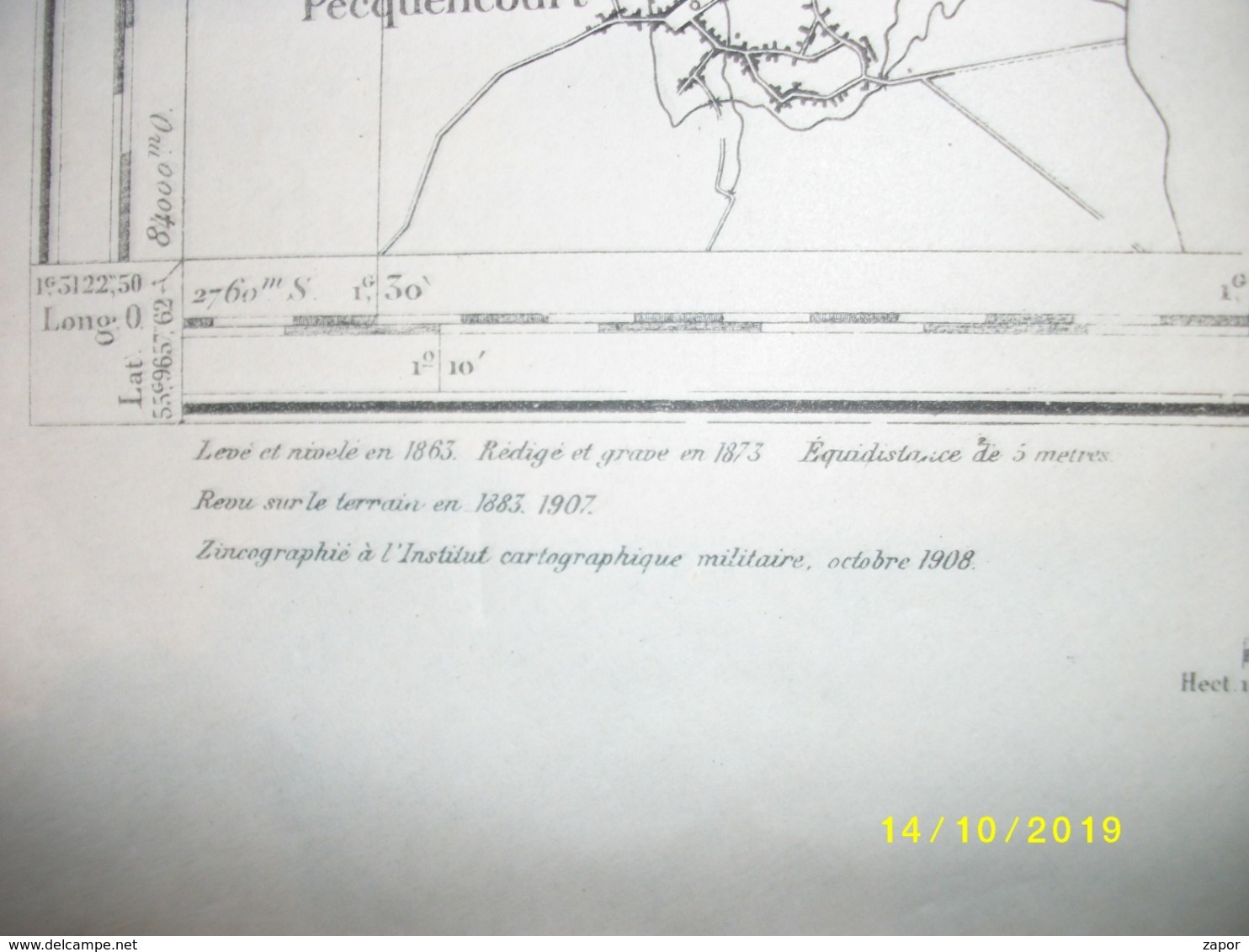 Carte Topographique De Péruwelz (Rouillon - Hollain - Maubray) - Topographical Maps