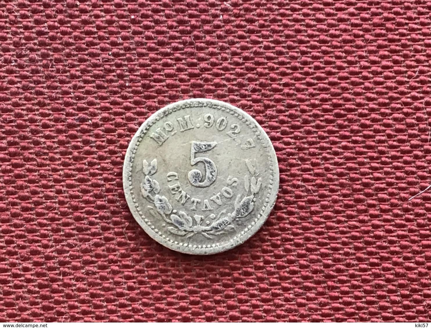 MEXIQUE Monnaie De 5 Centavos 1890 - México