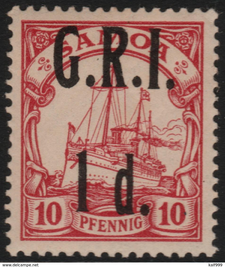 ~~~ Deutsche Kolonien Samoa GRI 1914 - Kaiseryacht - Mi. 3 * MLH Aber Fast Postfrisch - CV 150 Euro ~~~ - Colony: Samoa