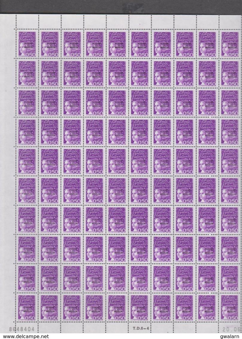 SAINT PIERRE ET MIQUELON 1 Feuille 100 T N°YT 658 MARIANNE DE LUQUET Date 20.08.98 - St.Pedro Y Miquelon
