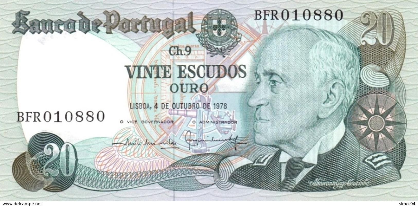 Portugal P.176b 20 Escudos 1978 Unc - Portogallo