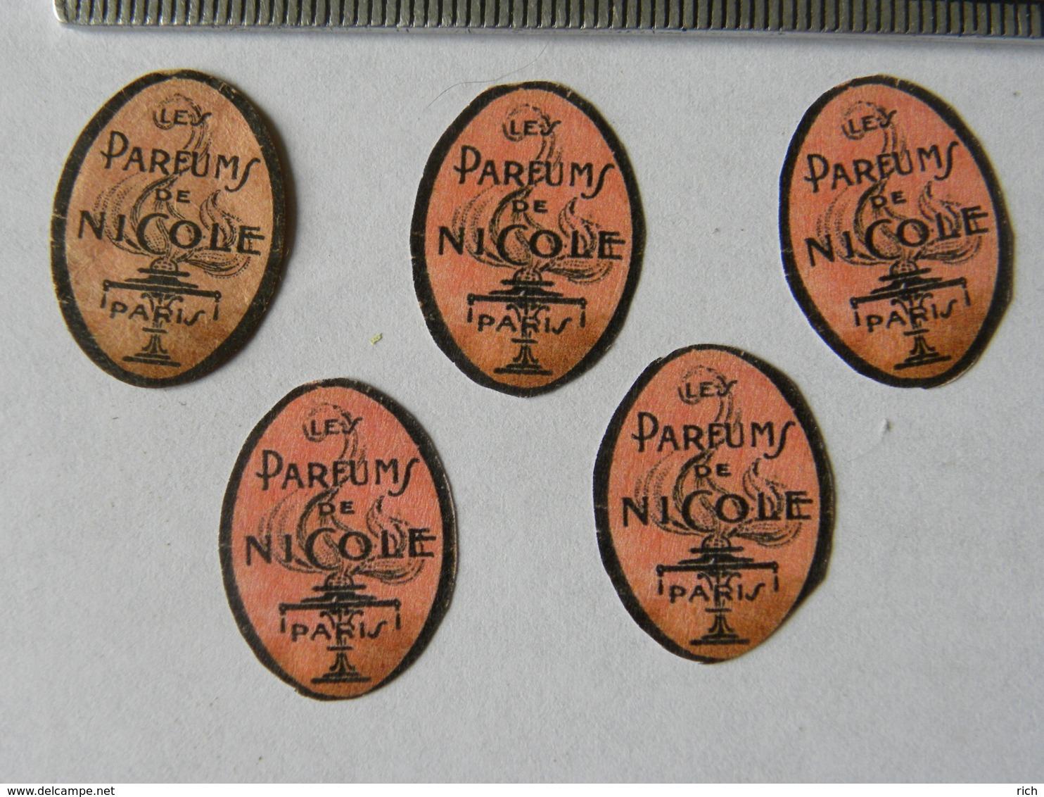 Lot De 5 étiquettes Parfum - Les Parfums De Nicole - Labels