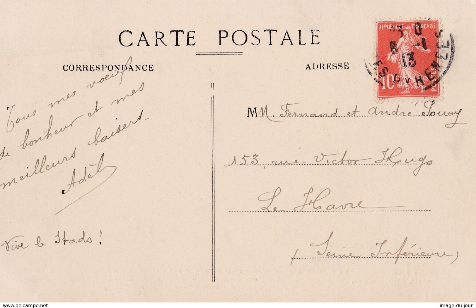 TARBES  STADOCESTE TARBAIS EQUIPE PREMIERE DE RUGBY 1911  PRIX FIXE - Tarbes
