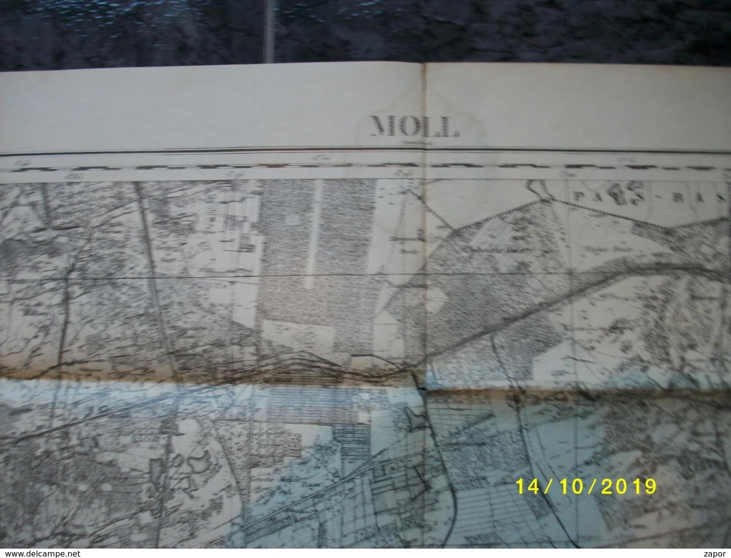 Topografische / Stafkaart Van Mol (Eksel Lommel Dessel Retie Olmen Geel) - Topographical Maps