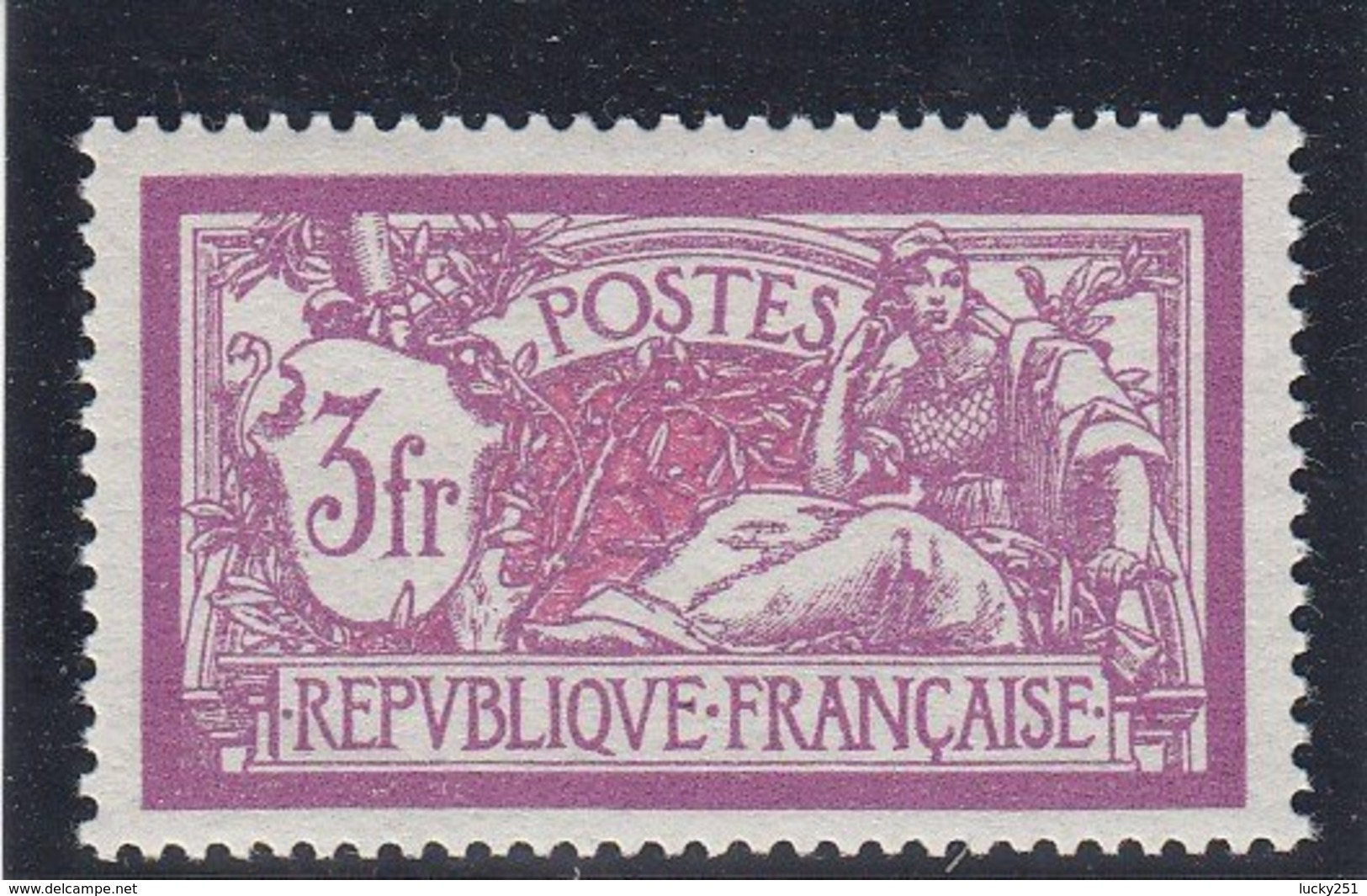 France - 1925-26 - N°YT 206** - Bon Centrage - Merson - Cote 60€ - 1900-27 Merson