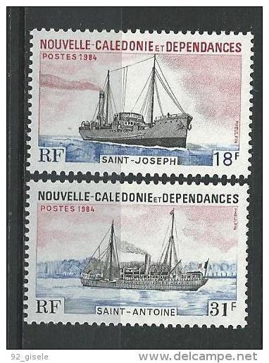 "Nle-Caledonie YT 484 & 485 "" Bâteaux "" 1984 Neuf** - New Caledonia"