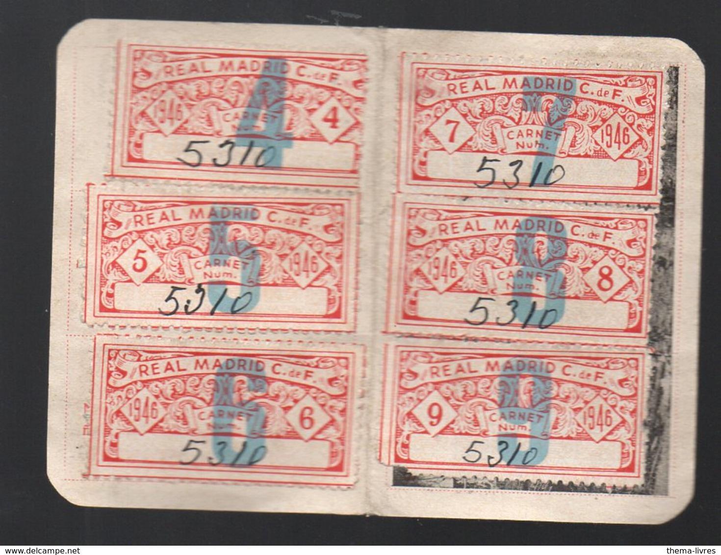 (erinnophilie, Football) (Espagne REAL MADRID) Lot De 12 Coupons D'entrée 1946 (carnet De Socio) (PPP20658) - Tickets - Vouchers