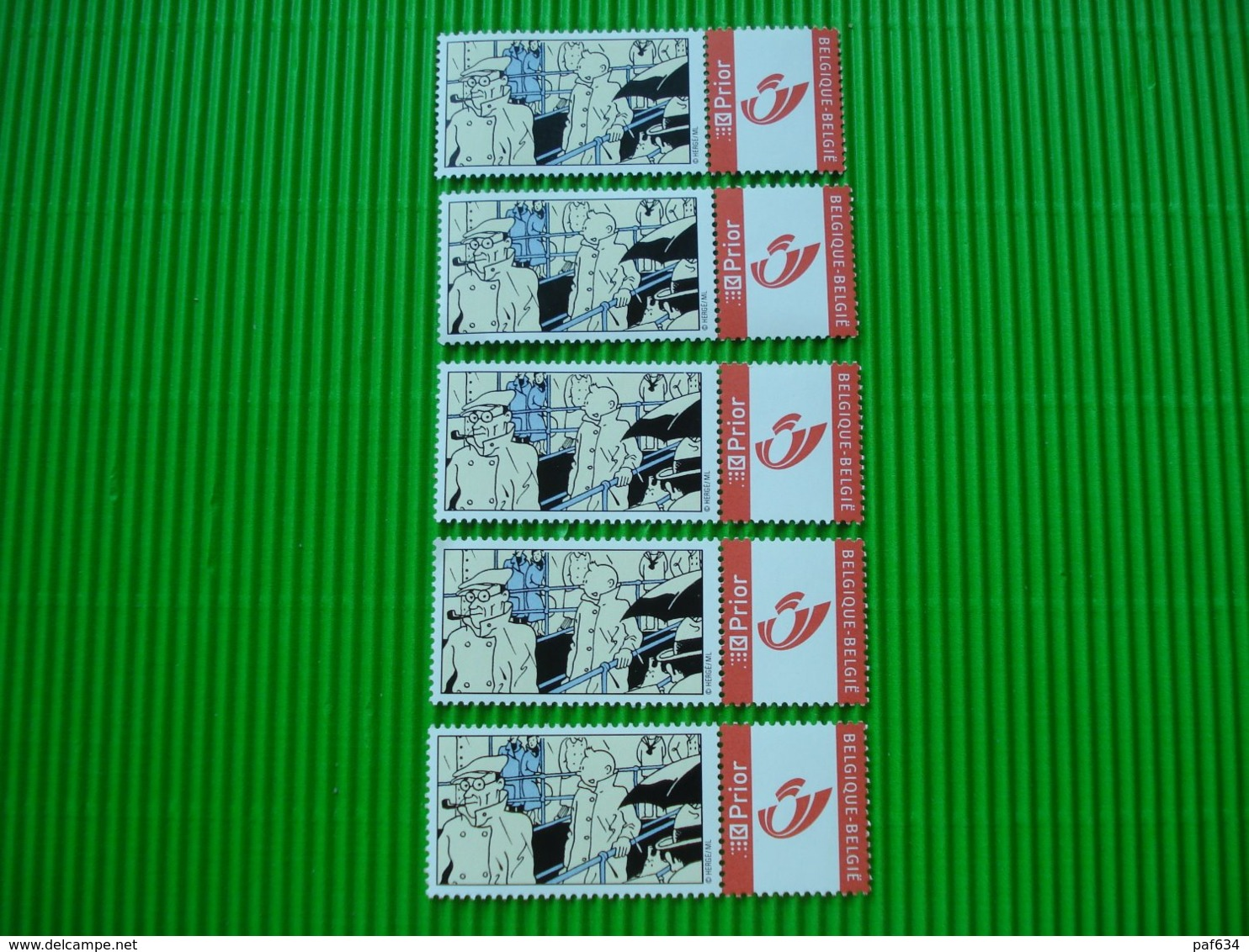 Kuifje 5 X Prior Postzegels**postfris** - Philabédés (comics)