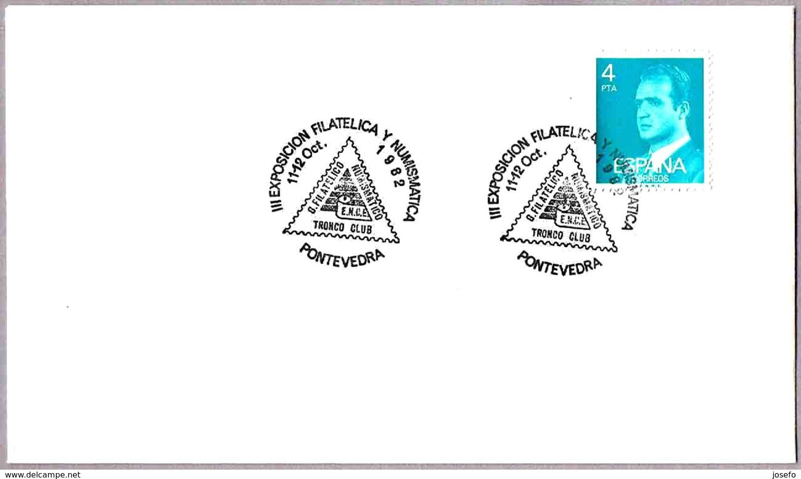Matasellos III EXP. FILATELICA. Pontevedra, Galicia, 1982 - 1981-90 Cartas