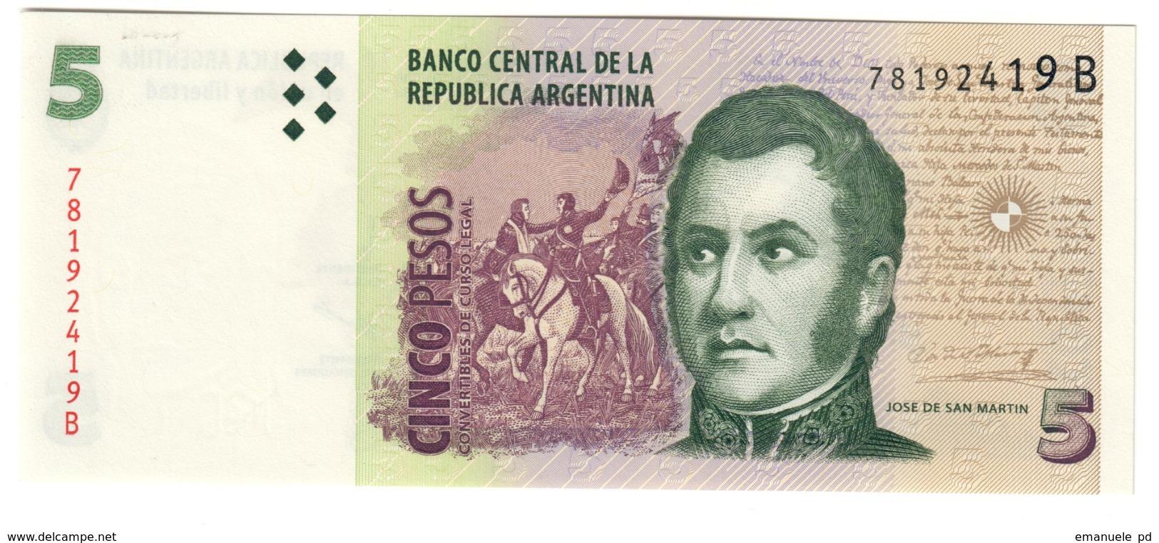 ARGENTINA5PESO1997P347UNC.CV. - Argentina