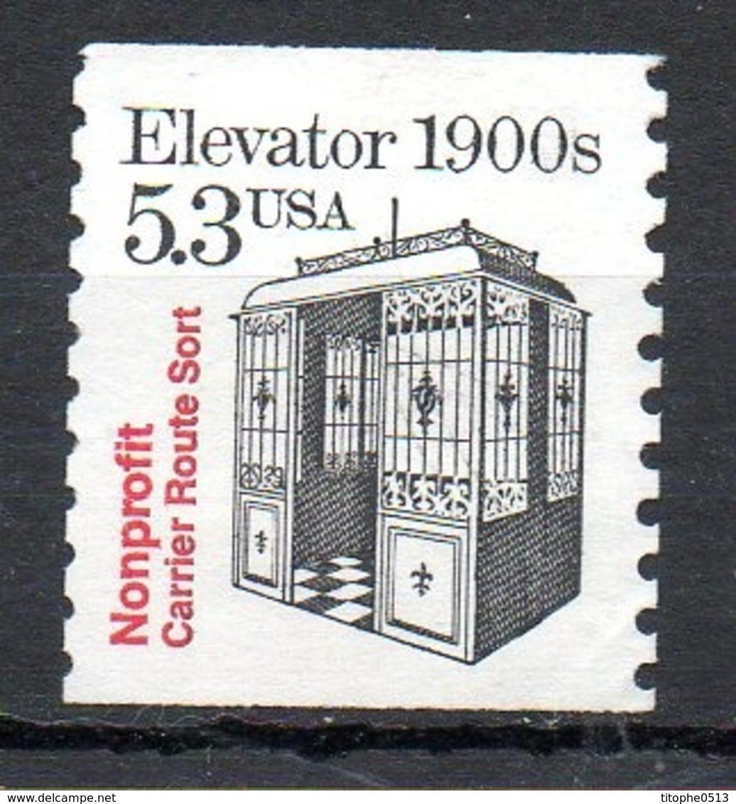 USA. N°2254 (Numéro Scott) Sans Gomme De 1988. Ascenseur. - Vereinigte Staaten