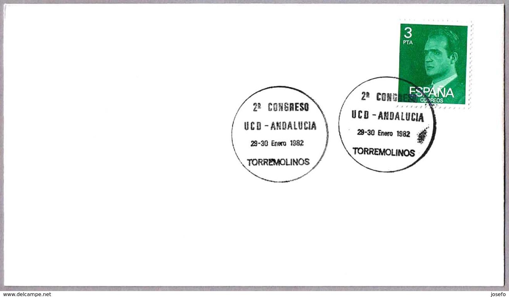 Matasellos 2ºCONGRESO UCD-ANDALUCIA. Torremolinos, Malaga, Andalucia, 1982 - 1931-Hoy: 2ª República - ... Juan Carlos I