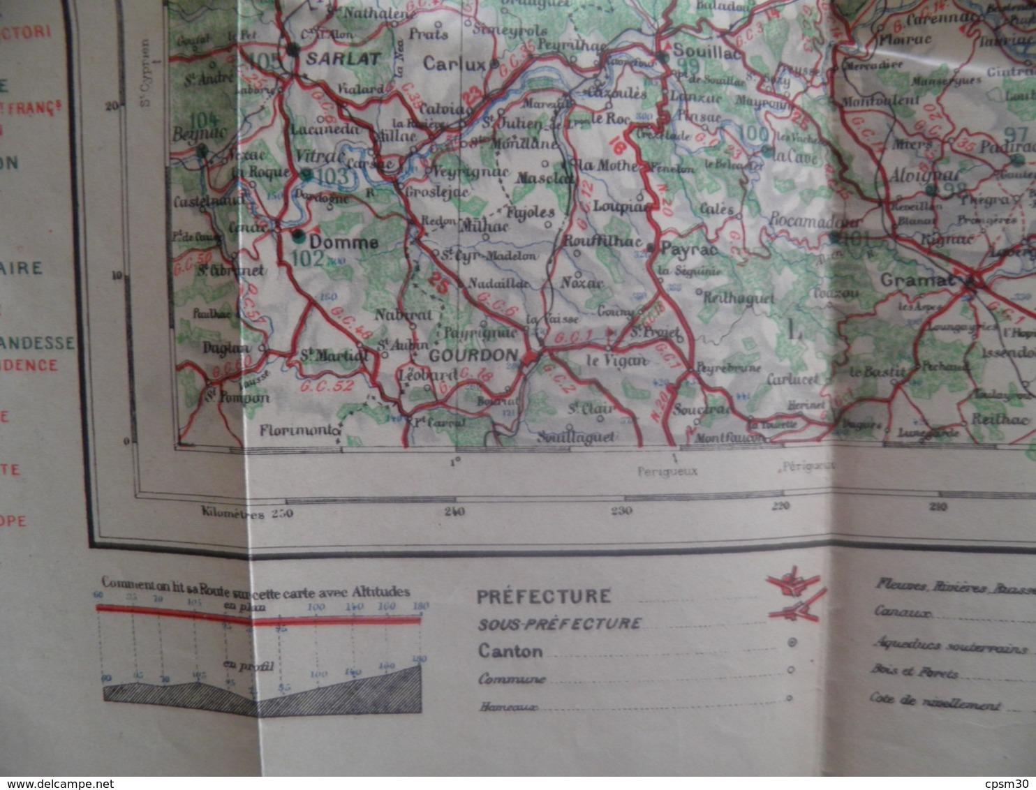 Carte Routière Et Gastronomique, AUVERGNE Gorges Du Tarn LANGUEDOC-ROUSSILLON Pub Restaurants Et Hotels Avec Carte, N° 8 - Roadmaps